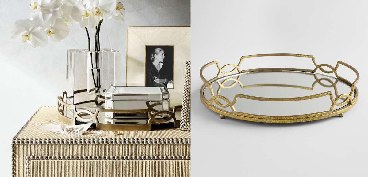 williams sonoma copycat budget – gold mirrored trays comparisons side by side