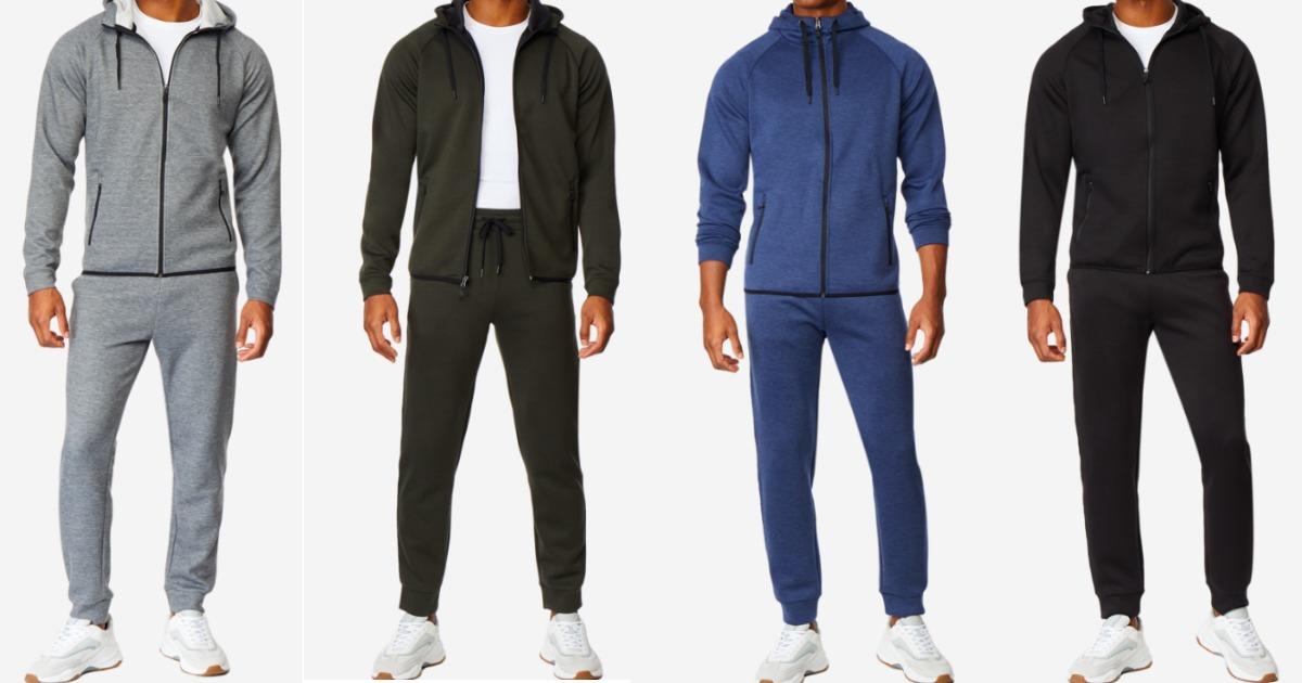 32 degrees code fleece tech hoodie & jogger sets