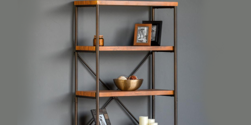 4-Tier Industrial Bookshelf Only $79.99 Shipped (Regularly $222)