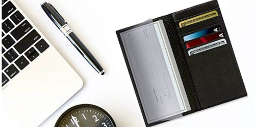 Genuine Leather Checkbook & Credit Card Holder as Low as $9.74 on Amazon