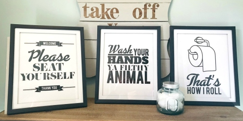 A Frugal Way to Spruce Up Your Bathroom Wall Decor