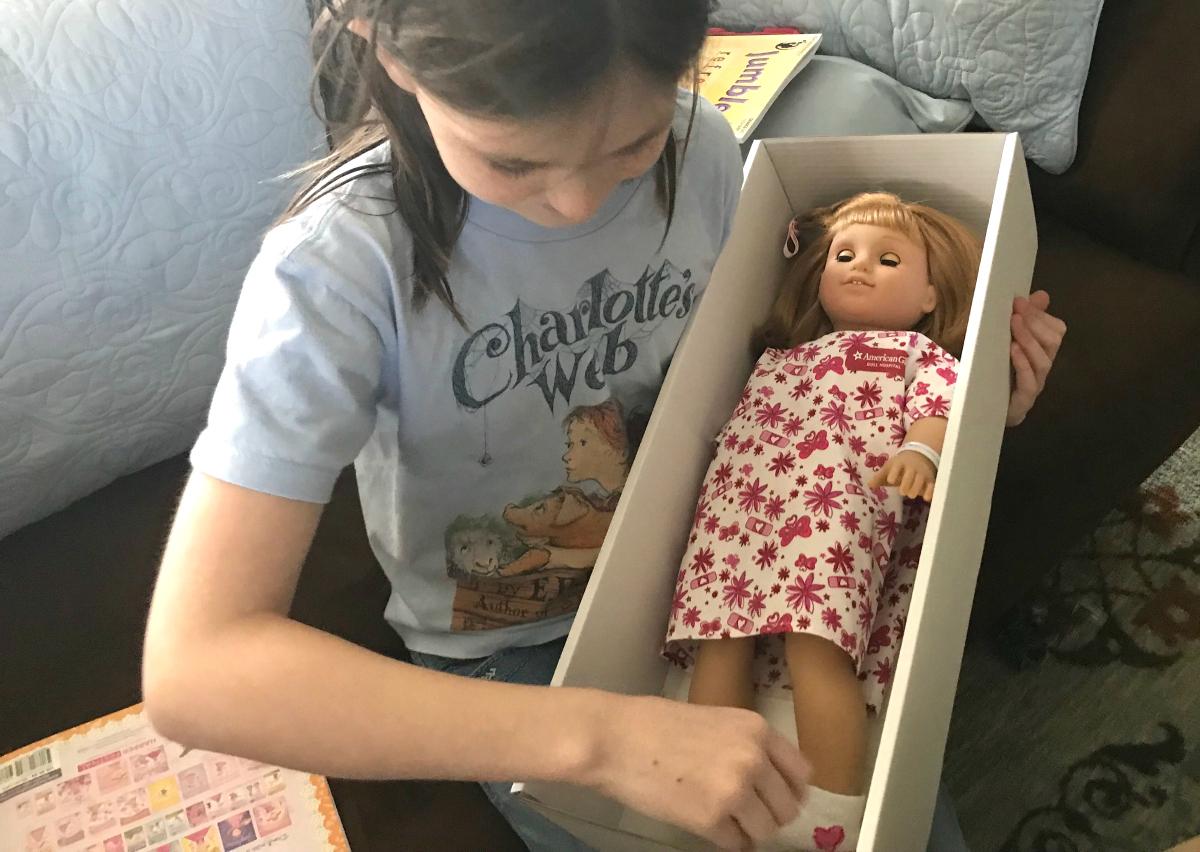 American Girl doll hospital makeover