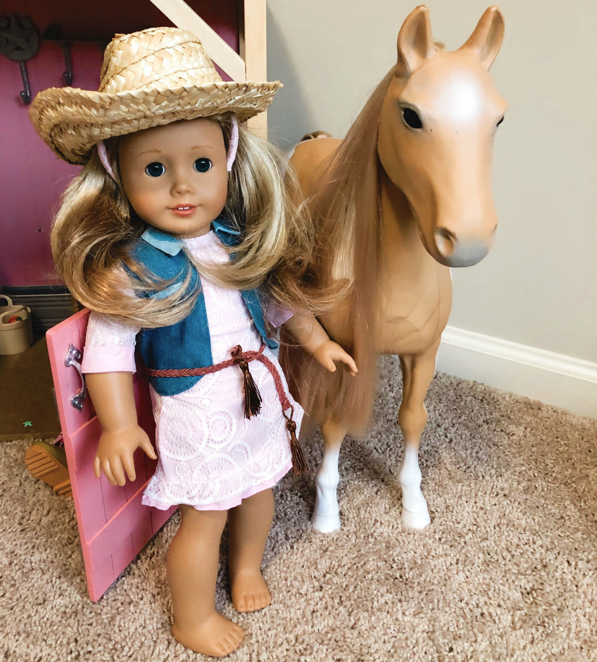 American Girl doll in knockoff clothing
