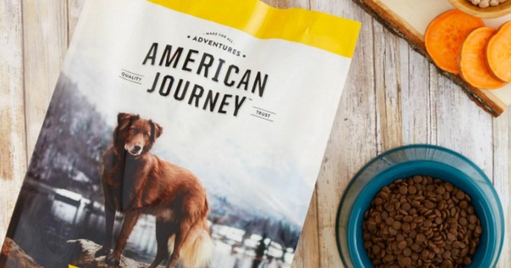 bag of American Journey dog food