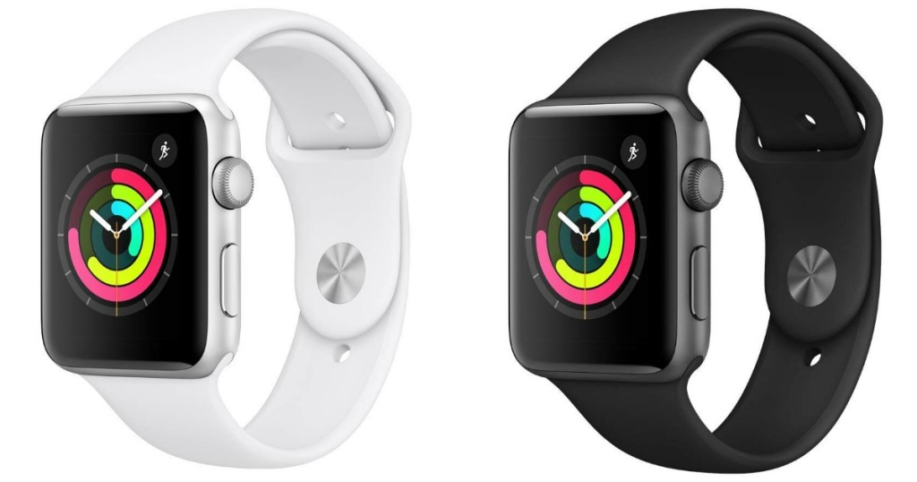 Apple Watch 3 white and black side by side