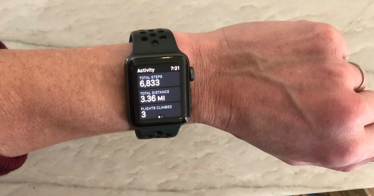 apple watch showing an activity tracker