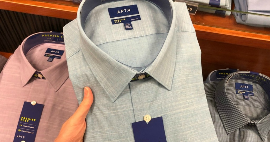 c41990863 For a limited time, head on over to Kohls.com where they have select men's  dress shirts on sale 3/$30 or $12.99 each.