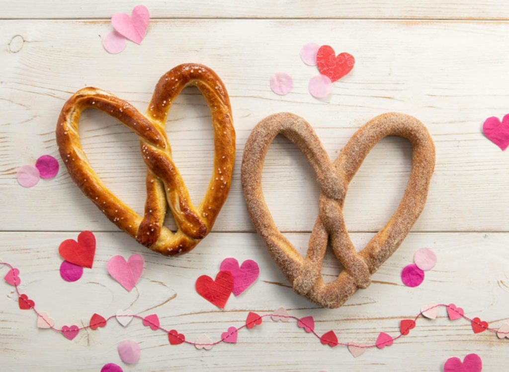 Auntie Anne's Valentine's Day pretzels