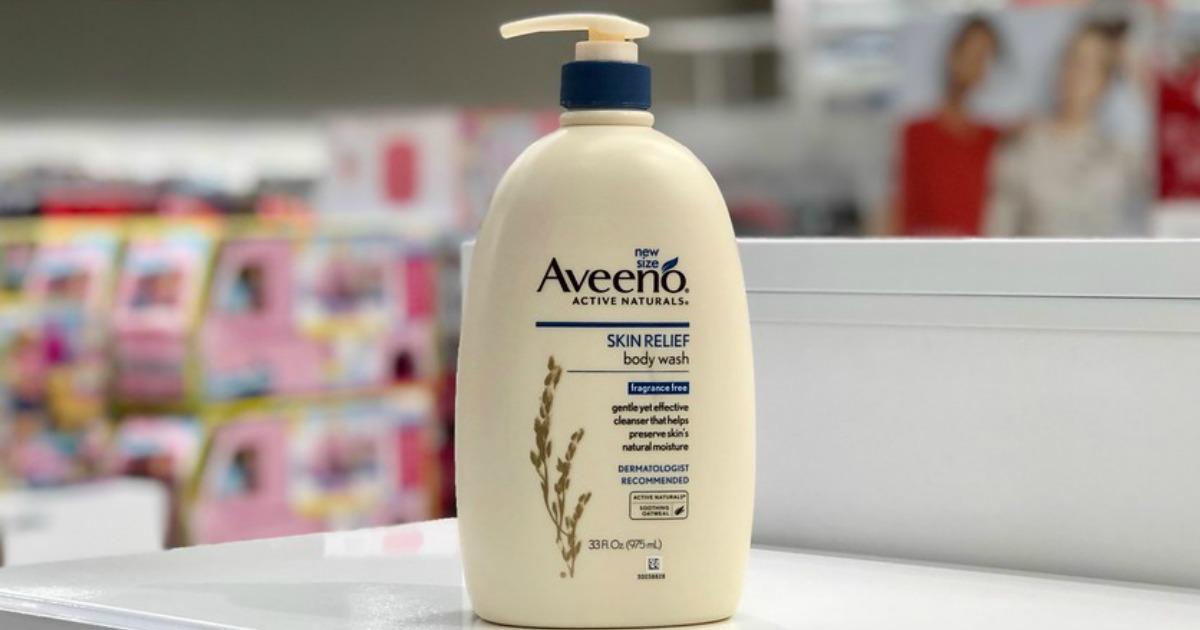 bottle of aveeno body wash