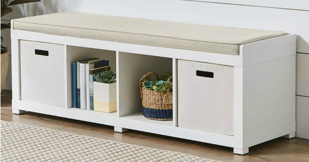 Better Homes Gardens 4 Cube Organizer Storage Bench Only 5999