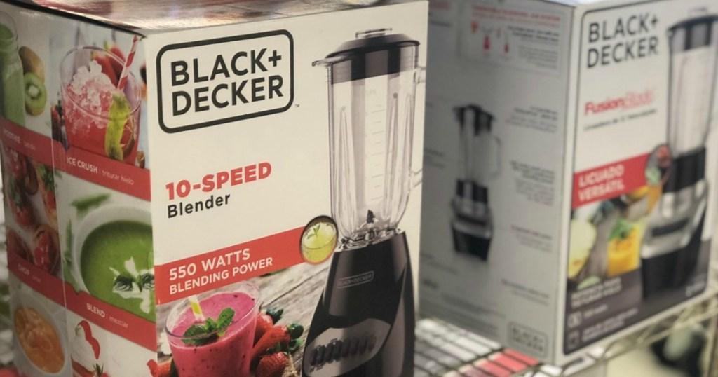 Black + Decker Blender in package at Macy's on shelf