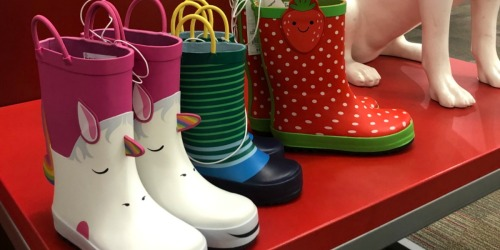 $10 Off $40 Shoes & Apparel Purchase at Target = Nice Deals on New Rain Boots, Sandals & More