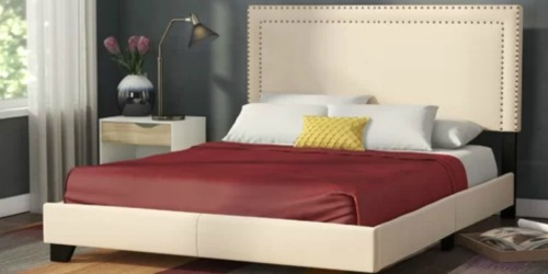 Queen Upholstered Platform Bed Only $167 Shipped (Regularly $355) + More