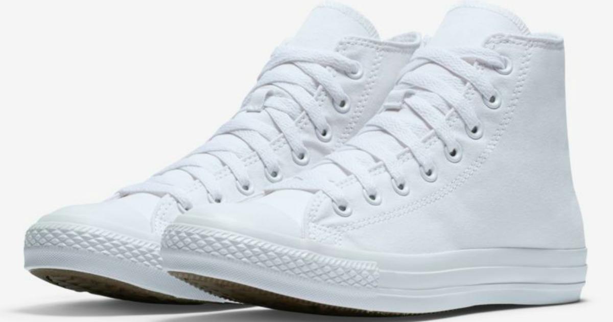 White Converse high-tops