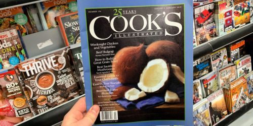 Cook's Illustrated Magazine One Year Subscription Only $7.99