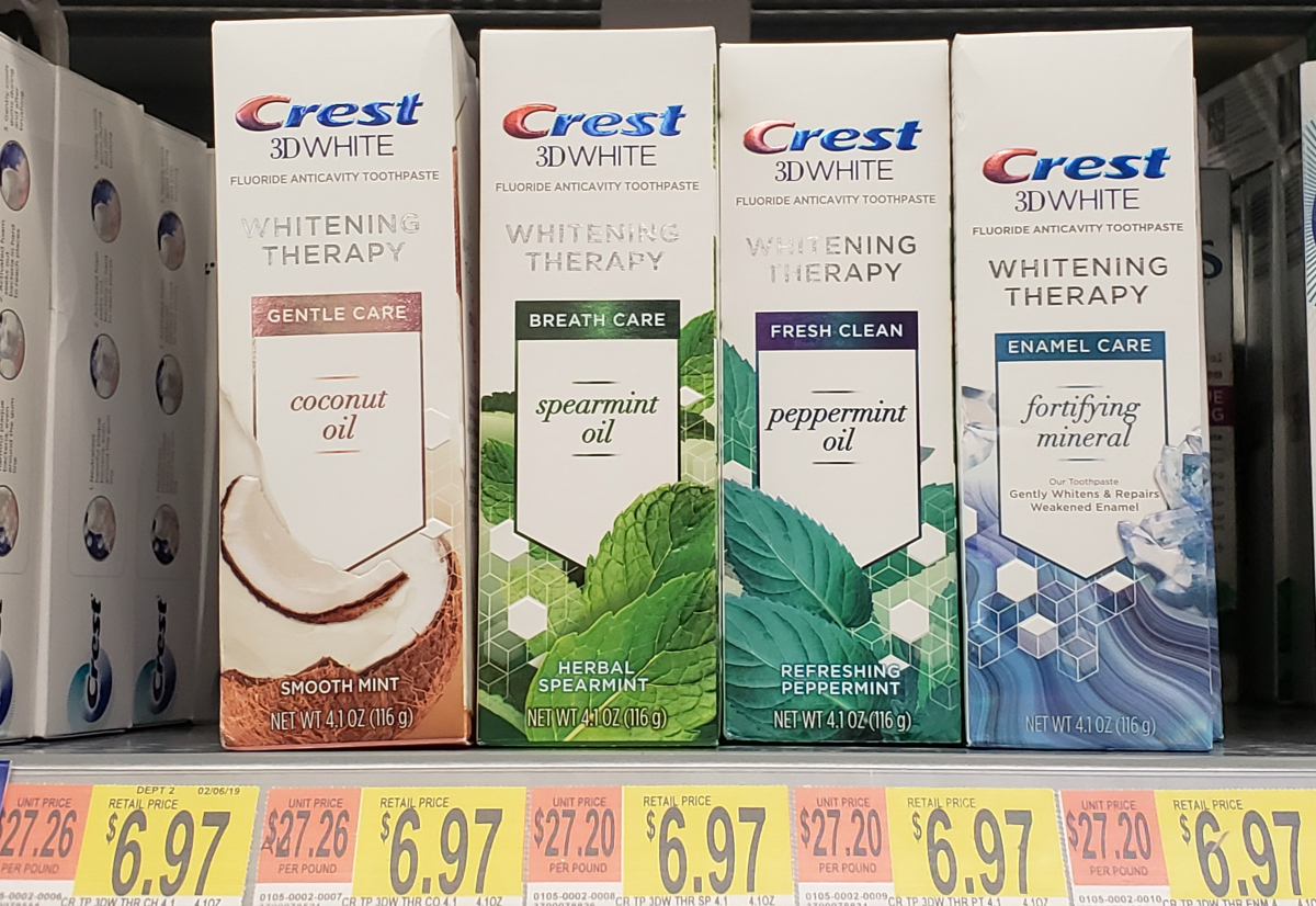 Crest 3D White Whitening Therapy Coconut Oil toothpaste