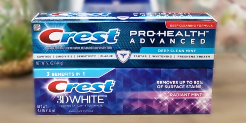 High Value $2/1 Crest Toothpaste Coupon (Score Toothpaste for UNDER 50¢ at Walmart!)