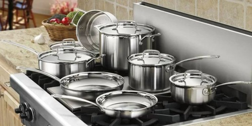 Cuisinart MultiClad Pro 8-Piece Stainless Steel Cookware Set Just $129.99 (Regularly $200)