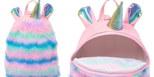 Curls & Pearls Faux Fur Unicorn Backpack Just $9.97