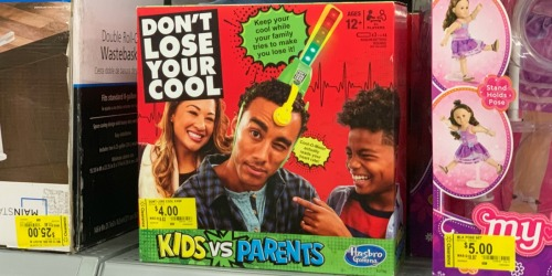 Hasbro Don't Lose Your Cool Kids vs. Parents Game Possibly Just$4 at Walmart (Regularly $20)