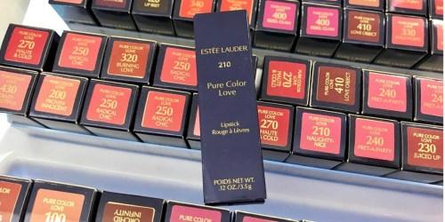 4 Estée Lauder Full-Sized Lipsticks Only $19 Shipped ($90 Value)