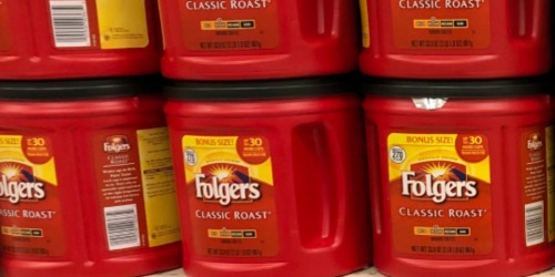 Folgers Ground Coffee Canister Only $4.99 Shipped on Staples.com (Regularly $10)