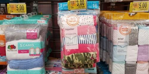Up to 80% Off Girls Underwear at Walmart