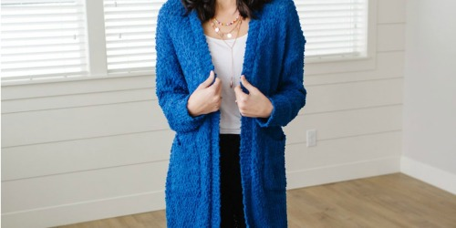 Cute Popcorn Cardigan Only $19.98 Shipped & More