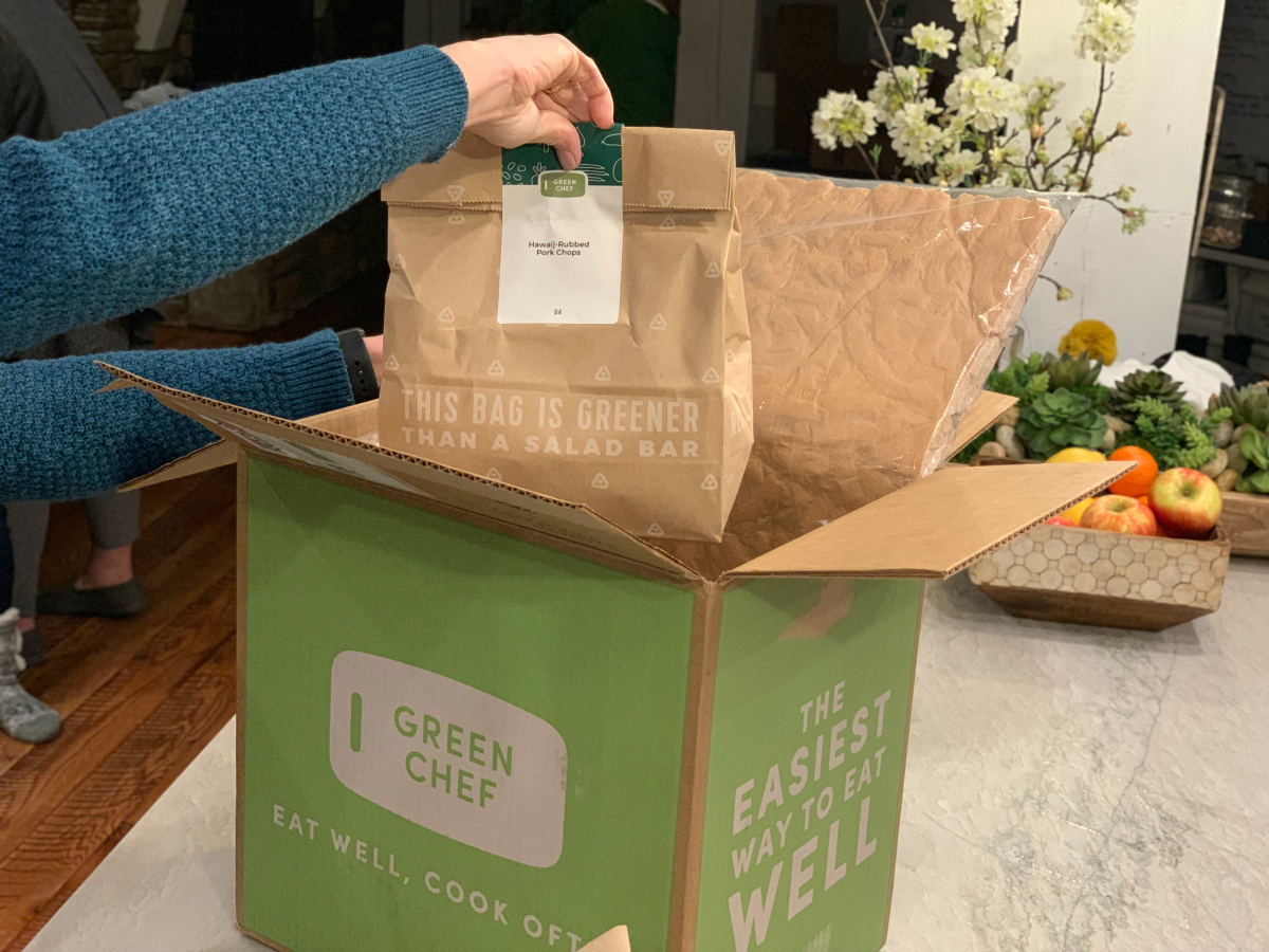 Green Chef Meal Kit in the packaging