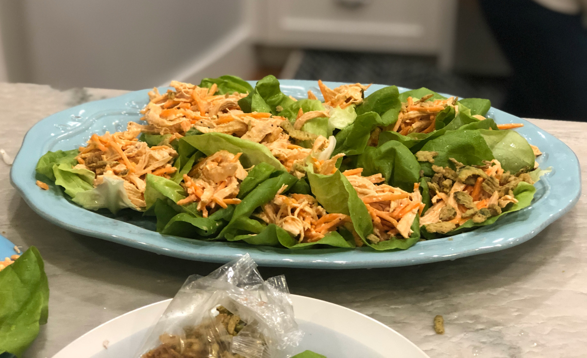 Home Chef Meals plated shredded buffalo chicken street tacos
