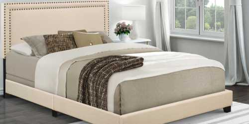 Upholstered Queen Bed with Nail Head Trim Just $79.99 Shipped (Regularly $149)