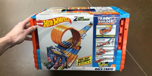 Hot Wheels Track Builder System Race Crate Just $31.42 Shipped (Regularly $50) at Amazon