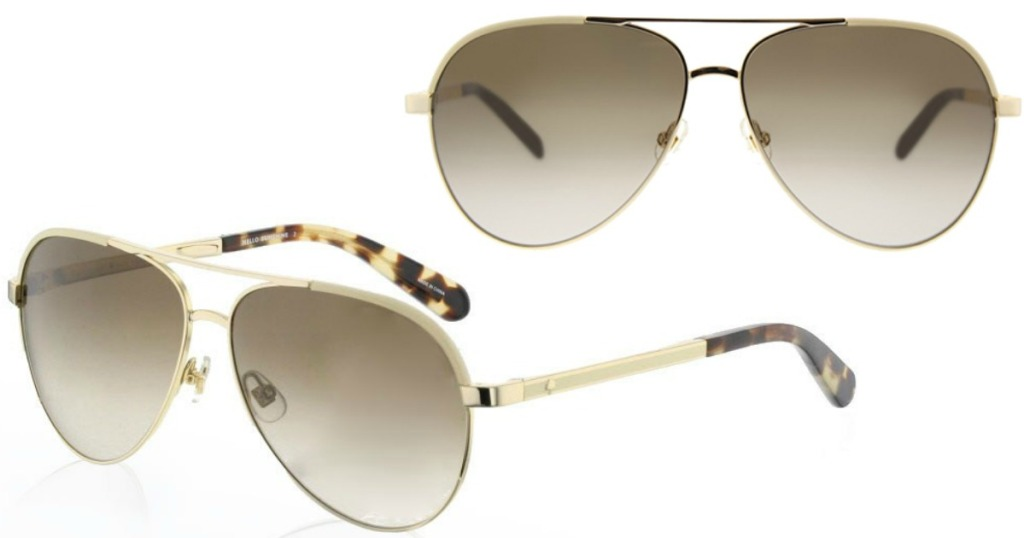 57949c1a3 ... to EyeDictive.com where you can score these Kate Spade Women's Amarissa  Classic Aviator Sunglasses with Gradient Lenses for just $40 shipped  (regularly ...