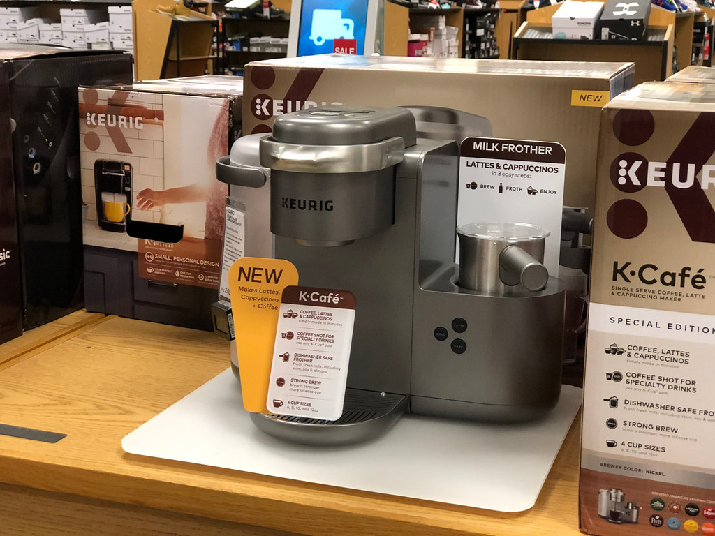 silver and grey coffee maker in store