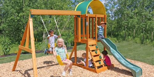 KidKraft Ainsley Wooden Swing Set Just $249 Delivered (Regularly $400)