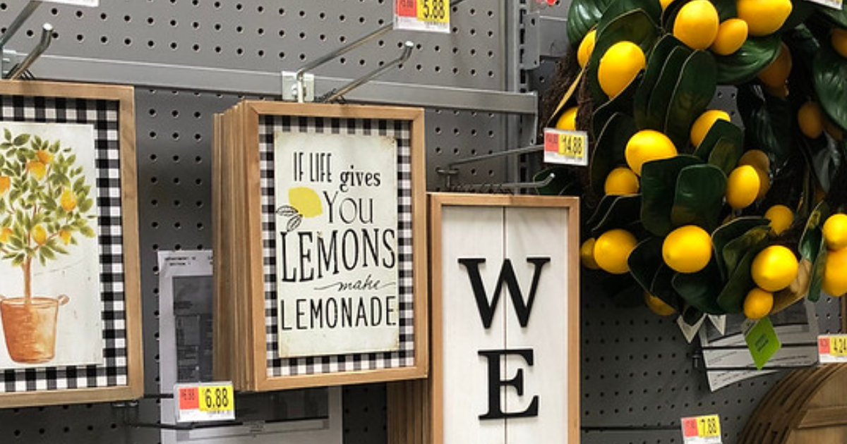 New Lemon-Themed Home Decor Items at Walmart (In-Store ...