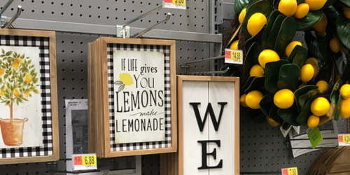New Lemon-Themed Home Decor Items at Walmart (In-Store Only)