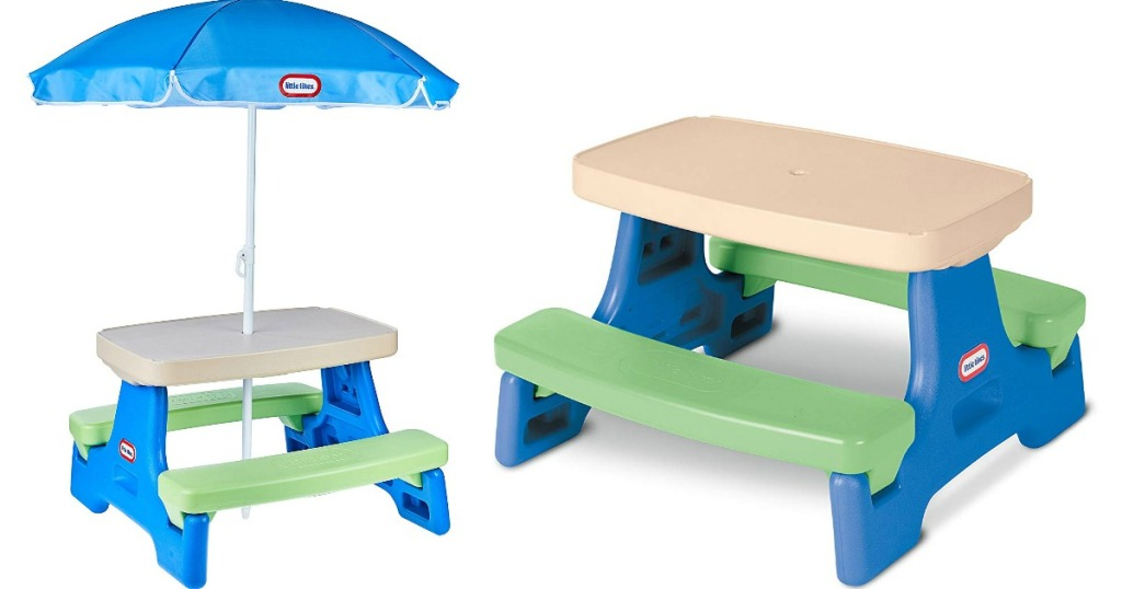 little tikes picnic table with and without umbrella