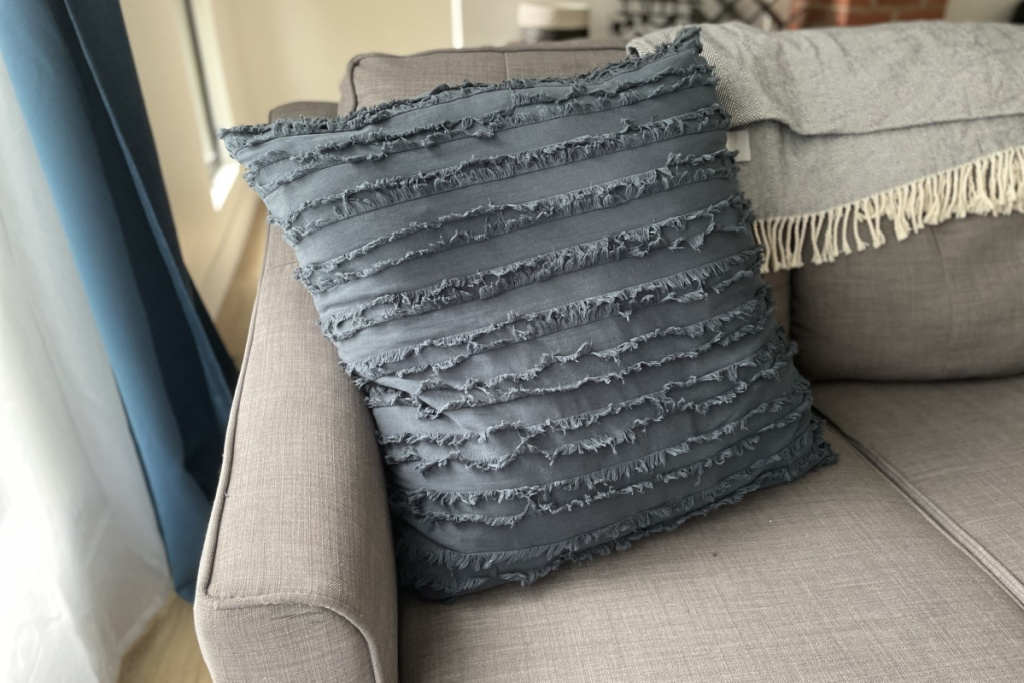 longhui pillow on couch