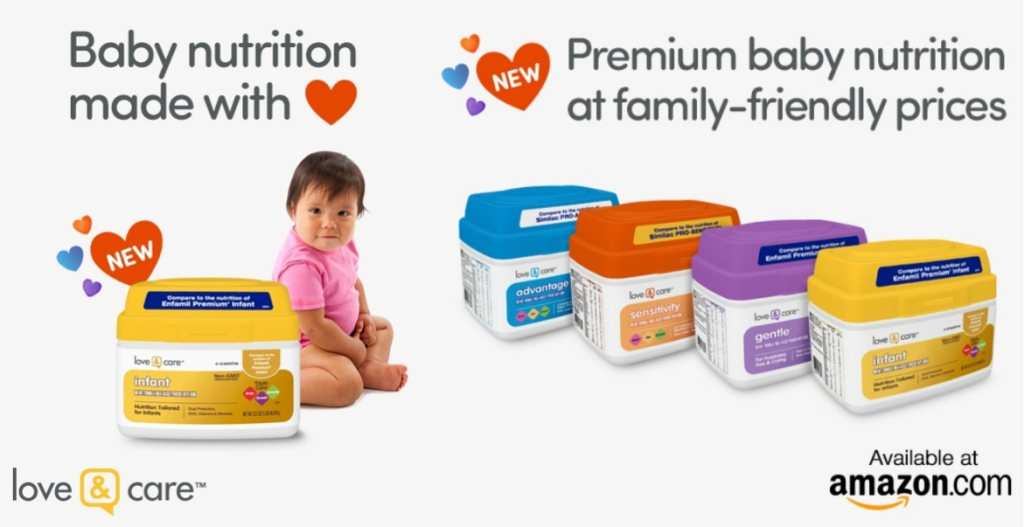 Love & Care baby formula types