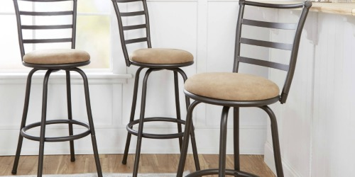 Three Mainstays Swivel Barstools Only $59 Shipped (Regularly $99)