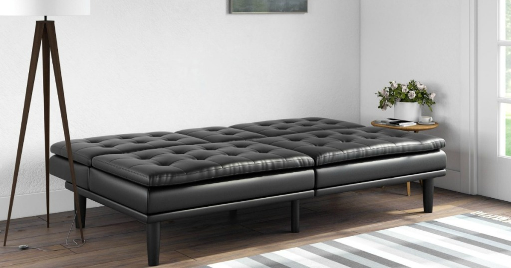 Mainstays Memory Foam Pillowtop Futon W Cupholders As Low