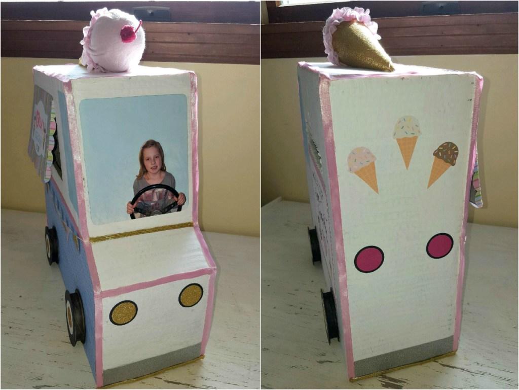 Making a DIY cardboard ice cream truck