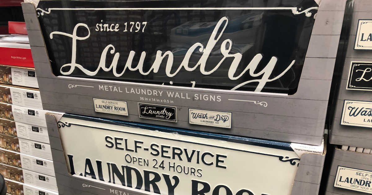 Metal Laundry Wall Sign-Laundry Stinks