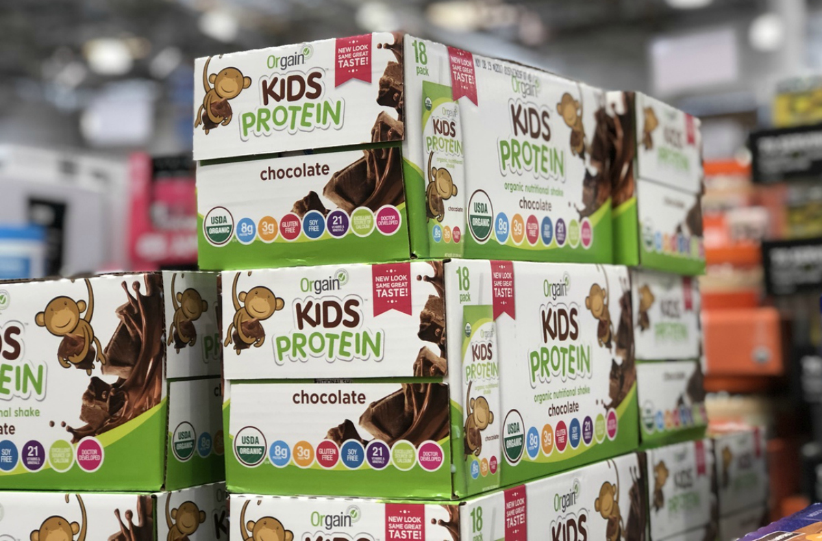 Orgain Kids protein shakes at Costco