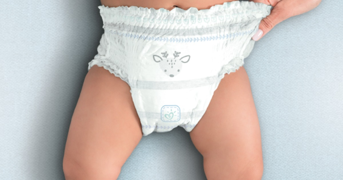 child wearing a diaper