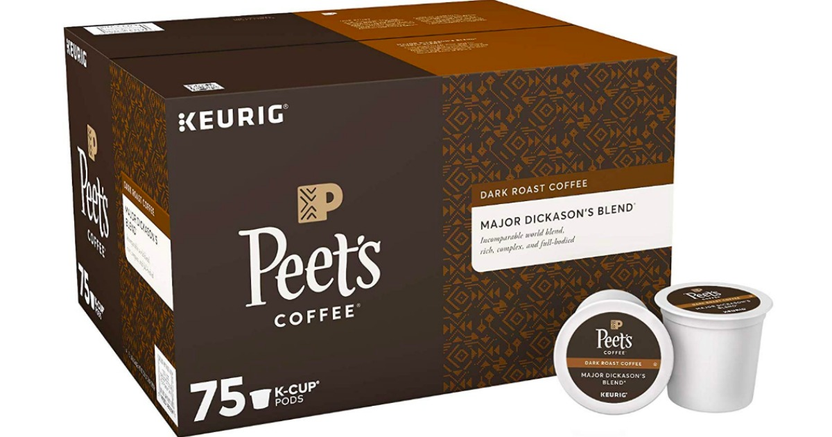 ppet's coffee box with k-cups laid next to it