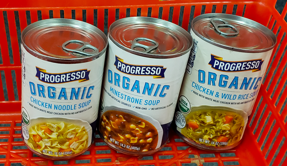 picture relating to Printable Progresso Soup Coupons called Progresso Organic and natural Soups Basically 25¢ Every single Right after CVS Gains