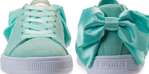 Puma Women's Suede Bow Casual Sneakers Only $17.50 at Macy's (Regularly $85)