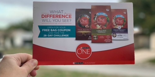 Possibly FREE Purina ONE Dry Dog or Cat Food Coupon